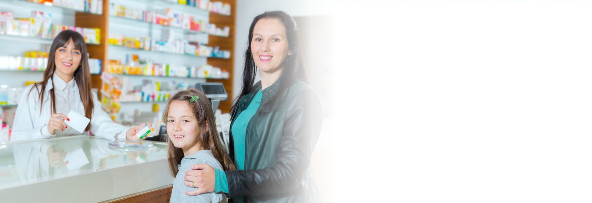 portrait of a customer and a pharmacist